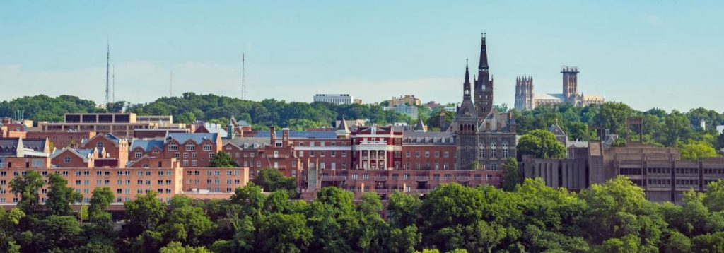 Photo of Georgetown University skyline
